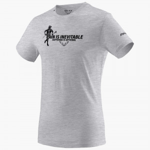 Graphic Melange Cotton T-Shirt Herren