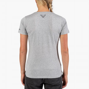 Graphic Melange Cotton T-Shirt Damen