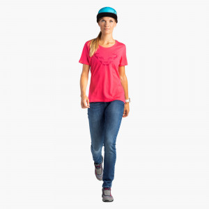 Graphic Cotton T-Shirt Damen